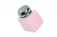 Маникюр и педикюр RuNail Помпа для жидкости метталческая крышка, пластик розовая