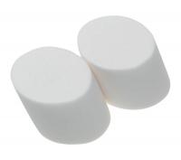 Макияжные кисти, принадлежности для наращивания ресниц, коррекции бровей N543 Деваль Губка макияжная скошенная (2шт)