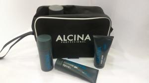 Косметичка ALCINA черная с белой окантовкой 23х16х8.5см