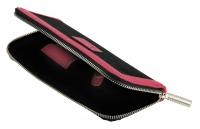 Чемоданы, косметички, сумки Футляр для ножниц одинарный чёрно-розовый