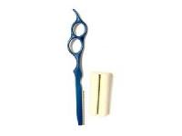 Ножницы, бритвы, масло Бритва филировочная со станком, синяя (красная) DEWAL