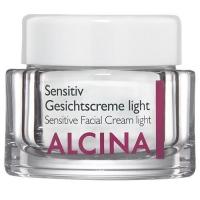 Уход за телом и лицом, крема, лосьоны, ампулы ALCINA легкий крем для чувствительной кожи лица Sensitiv Gesichtscreme light - 50 мл