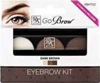 """Декоративная косметика для лица, глаз, бровей, губ Кисс Набор для моделирования бровей """"Go Brow"""" (dark brown)"""