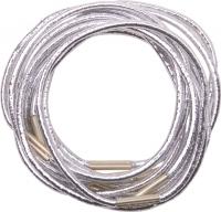 Парикмахерские аксессуары RE041 Деваль Резинки для волос серебристые midi (10шт)