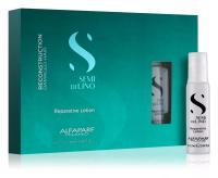 Ампульное лечение волос и кожи головы ALFAPARFR SDL Semi De Lino Лосьон для восстановления волос