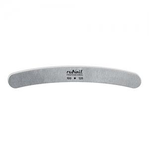 Пилка для искусственных ногтей 100/180 серая, полукруглая