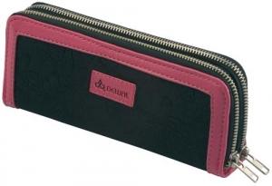 Футляр для ножниц двойной чёрно-розовый