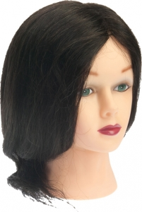 """Голова """"брюнетка"""" волосы 30-40см"""