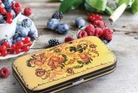 Metzger Маникюрный набор Желтый с листьями (7 предметов)