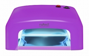RuNail УФ Лампа для Лампа для полимеризации любых гелей и уф-материалов 36W с таймером на 120 сек GL-515