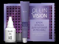Всё для ресниц и бровей  OLLIN Vision Набор для окрашивания бровей и ресниц