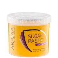 """Шугаринг Aravia Сахарная паста для депиляции """"Мягкая и легкая"""" мягкой консистенции 750гр"""