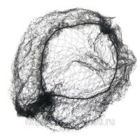 Шпильки, невидимки, зажимы, резинки, валики для причесок Деваль Сеточка для причесок Паутинка большая (2шт)