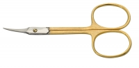 Ножницы для кожи CS-795-HG(CVD) Metzger Ножницы для кожи изогнутые (позолоченные)