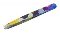 Пинцеты для бровей и сопутствующие материалы PT-498-BL Metzger Пинцет скошенный