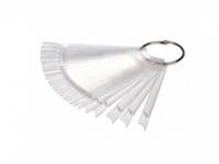 Принадлежности и инструменты для маникюра педикюра, инструменты RuNail Палитра веерная для лаков (прозрачная) 24шт.