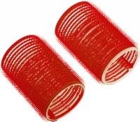 Бигуди-липучки d70мм*63мм (6шт) красные