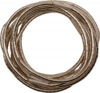 Шпильки, невидимки, зажимы, резинки, валики для причесок RE043 Деваль Резинки для волос коричневые блестящие midi (10шт)