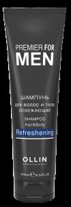 OLLIN Men Шампунь для волос и тела освежающий