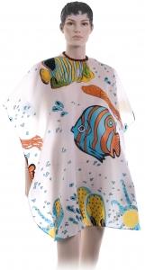 AP98A1 Деваль Пеньюар детский, с рыбками, на крючках