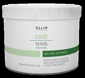 OLLIN Care Маска интенс. д/восстановления структуры волос 500мл