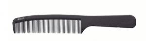 """Деваль Расческа рабочая """"SUPER thin"""" с ручкой, средняя, черная, 20.5см"""
