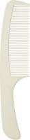 """Деваль Расческа рабочая """"SUPER thin"""" с ручкой, широкая, белая, 20.5см"""