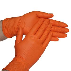 Перчатки нитриловые оранжевые (100шт)