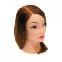 Тренировочные головы, манекены, штативы Голова «шатенка» протеиновые волосы 50-60см