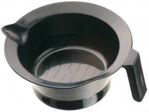 Чаша для окрашивания черная с ручкой и носиком, 260 мл