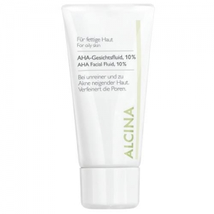 ALCINA серия F флюид с фруктовыми кислотами 10% AHA-Gesichtsfluid - 50 мл