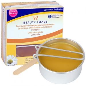 Воск для депиляции высокой температуры плавления в металлической баночке - 100 гр Beauty Image