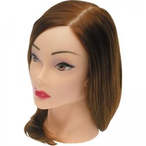 Голова «шатенка» протеиновые волосы 30-40см