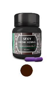 Sexy Brow Henna  Хна для бровей (30 капсул) в баночке