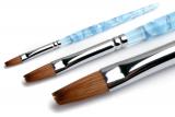 Кисти для геля, акрила, инструменты для дизайна Кисть для акрила №7  Kolinsky Flat naf