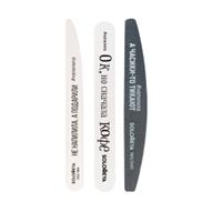 """Профессиональные пилки для ногтей 06-1181 Соломея Набор пилок """"Со смыслом"""" для домашнего маникюра (2 пилки + полировщик)"""