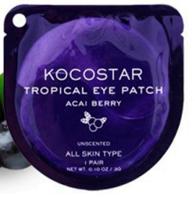 """Уход для глаз Kocostar Гидрогелевые патчи для глаз """"Acai Berry""""  (2шт/1пара) 3гр"""