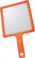 Одноразовая продукция, расходные материалы, сопутствующие товары Деваль Зеркало заднего вида, пластик, оранжевое, с ручкой, 21.5х23.5см