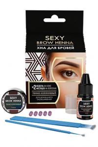 Набор для домашнего окрашивания бровей Sexy Brow Henna темно-коричневый