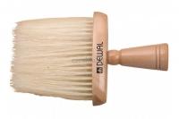 Парикмахерские аксессуары  Кисть-сметка плоская деревянная (свиная щетина)