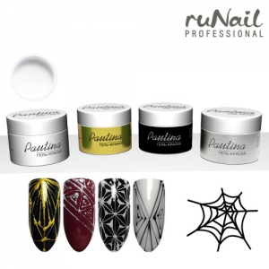 Runail Гель-краска для дизайна ногтей Pautina, 5 г