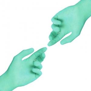 Перчатки нитриловые р-р.S  Клевер СТАНДАРТ зеленые (100шт)