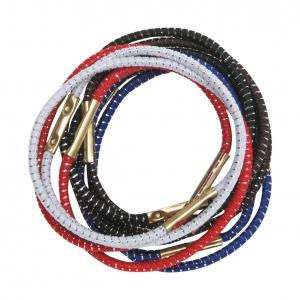 Резинки для волос цветные с серебряной нитью Dewal