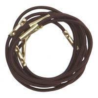 RE025 Деваль Резинки для волос коричневые midi (10шт)