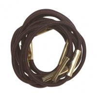 Парикмахерские аксессуары RE028 Деваль Резинки для волос коричневые mini (10шт)