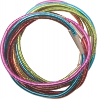 Парикмахерские аксессуары RE040 Деваль Резинки для волос цветные, блестящие midi (10шт)