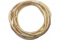 Парикмахерские аксессуары RE042 Деваль Резинки для волос золотистые midi (10шт)