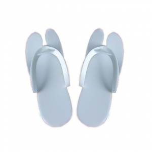 Одноразовые тапочки для педикюра, белые, 3мм, 1 пара