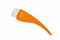 Кисточки для окрашивания, мисочки, распылители, выжиматели для краски Кисть для окрашивания волос прозрачная с белой щетиной Dewal