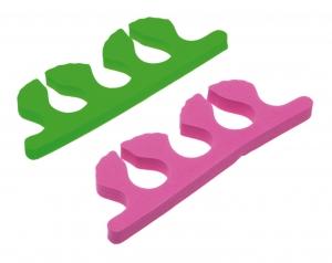 Деваль Разделители для пальцев жёлто-зелёные (2шт)